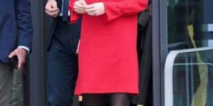 Опять микро: Кейт Миддлтон примерила сексуальный алый наряд