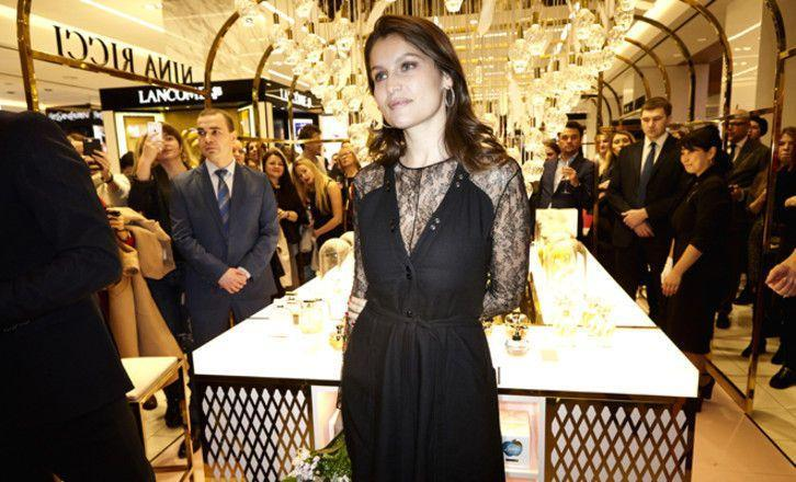 Летиция Каста приехала на открытие корнера Nina Ricci в ЦУМ