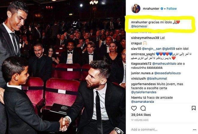 Внезапно: сын Роналду назвал своим кумиром Месси