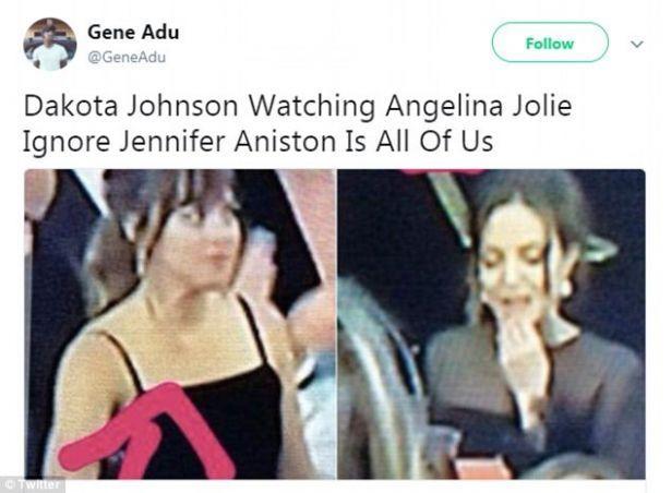 """Стоп-кадр: Анджелина Джоли проигнорировала речь Дженнифер Энистон на """"Золотом глобусе-2018"""" (ФОТОФАКТ)"""