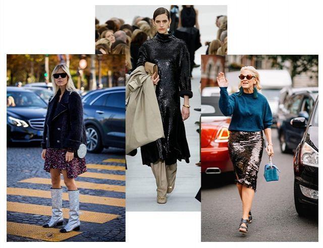 Как правильно сочетать и носить модную одежду из блестящей ткани