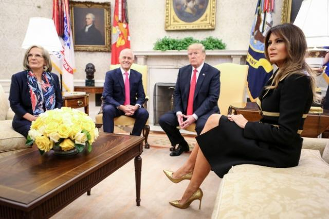 Дональд и Мелания Трамп приехали в Австралию