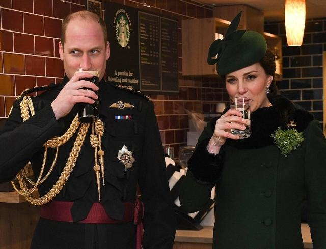 Гиннес, парад, марш и салют: как Кейт Миддлтон и принц Уильям отпраздновали День святого Патрика (ФОТО)