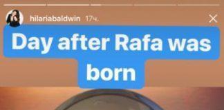 Жена Алека Болдуина показала живот после четвертых родов