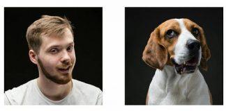 Вот это ми-ми-мимика: собака и человек смеются одинаково