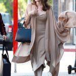 Анджелина Джоли удивила платьем в бельевом стиле