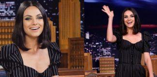 Мила Кунис в эффектном комбинизоне блеснула на шоу Джимми Фэллона (ФОТО)