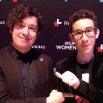 #HeForShe: Pianoбой с сыном и актрисой Энн Хэтэуэй защищали права женщин в Нью-Йорке