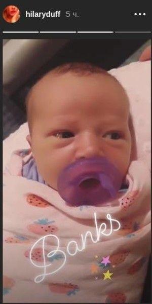 Хилари Дафф поделилась первым фото новорожденной дочери