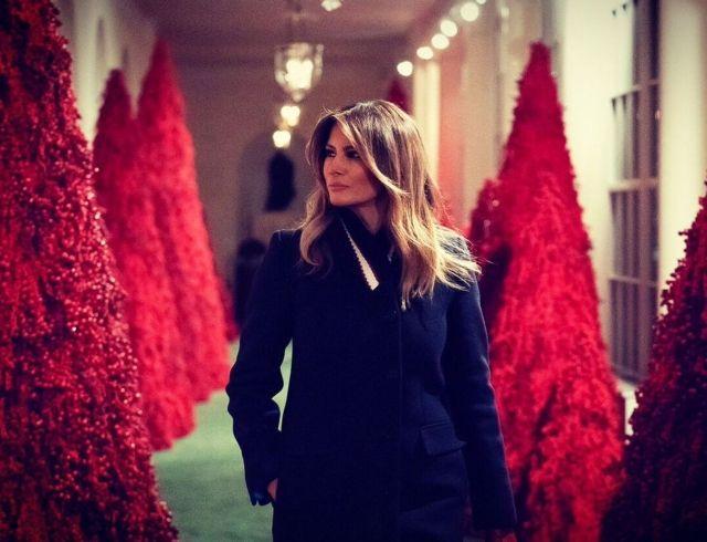Как Мелания Трамп подготовилась к Рождеству: декор Белого дома