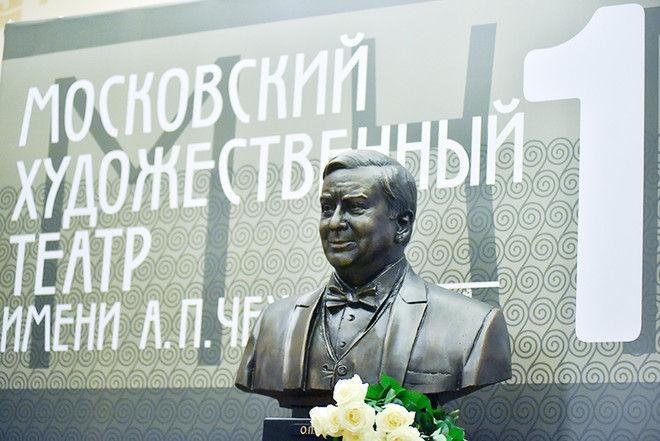 В МХТ имени Чехова открыли памятник Олегу Табакову