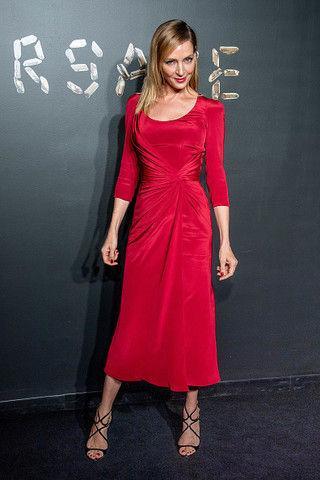 Ума Турман показала идеальное красное платье для блондинок