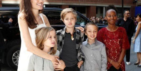 Примерная мама? Анджелина Джоли вместе с детьми посетила Музей современного искусства в Нью-Йорке (ФОТО)