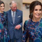 Королева Летиция в платье от Carolina Herrera и принц Чарльз встретились на выставке в Лондоне (ФОТО)
