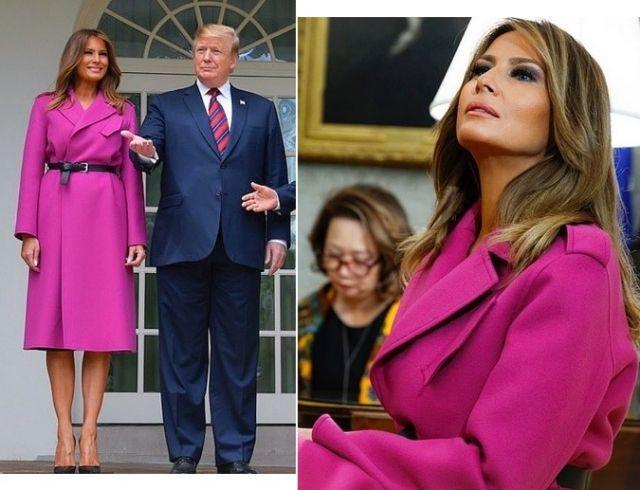 Мелания Трамп восхитила нарядом цвета фуксии (ГОЛОСОВАНИЕ)